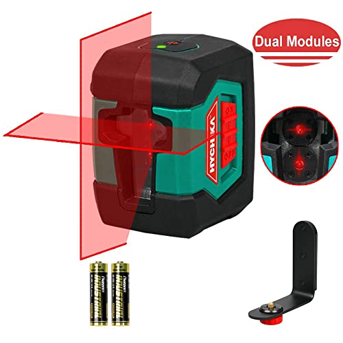 Battery Included Laser Level,Hanmer Cross Laser Level Horizontal and Vertical Points 15M 3-Way Self Levelling Laser Level with Manual//Self-Leveling Mode IP54 Anti-Splash 1M Shockproof