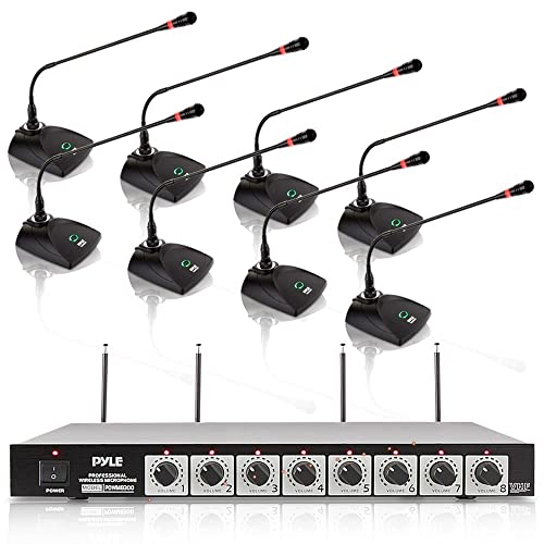 4 CHANNEL PRO CORDLESS WIRELESS UHF MIC MICROPHONE PA DJ SYSTEM RACK MOUNTABLE