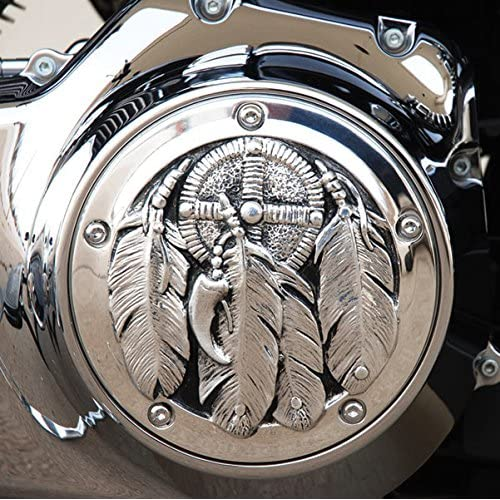 Scout/… Chief Classic Roadmaster Chief Vintage MotorDog69 Indian Black Gas Cap Coin Mount Set with Thank You Troops for Chieftain Dark Horse