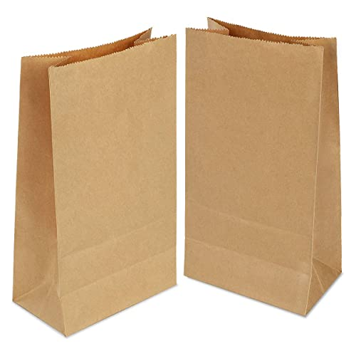 50-100pcs Brown Kraft Strung Food Sweets Sandwich Grocery Fruit Lunch Paper Bags