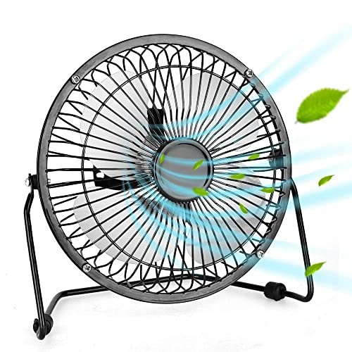 Luckyway Desktop Fan Portable Personal Mini USB 4 Inch Fan.Suitable for Home Office and Outdoor.The Plastic Design is Very Quiet.