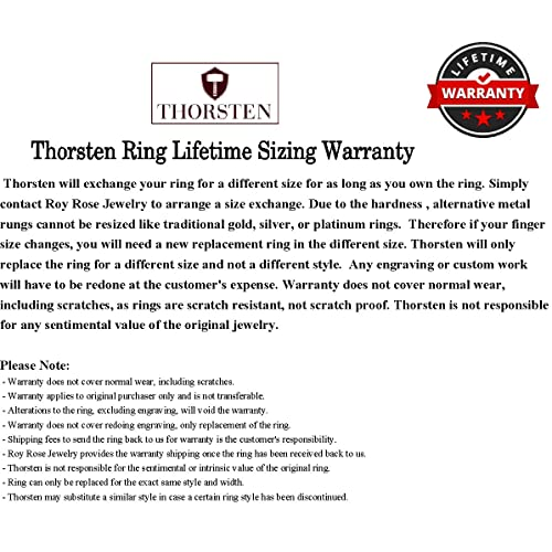 Thorsten Optimus Brush Finish Raised Center Polished Edge Tungsten Ring 10mm Wide Wedding Band from Roy Rose Jewelry