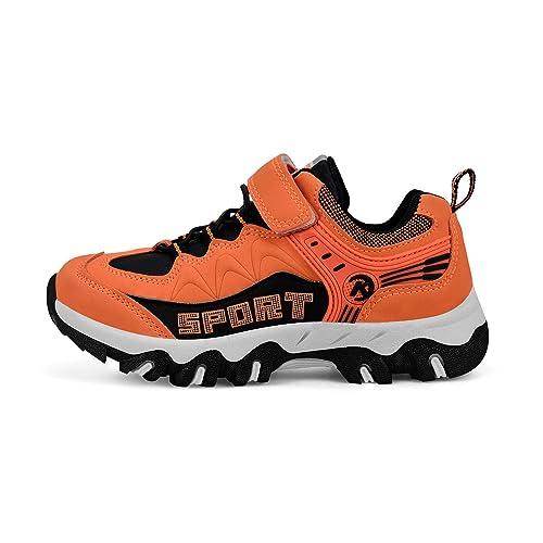Biacolum Boys Hiking Shoes Waterproof Wide Athletic Trail Running Sneakers for Boys Blue 6 M US Big Kid