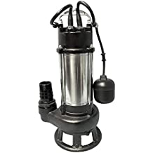 1HP 230V 49/' lift 20/' Cable/& plug Sewage Pump stainless steel 7250 GPH