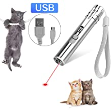 LECHONG Cat Toys Interactive for Indoor Cats 7 in 1 Cats Chaser Toys Wand USB Rechargeable Kitten Toys for Indoor Playing Training Exercising 2 Pack