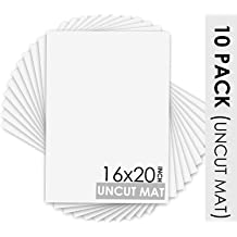 White Core Mats Bevel Cut for Pictures Mat Board Center Photos Framing Acid Free Black, 5x7 Mats for 4x6 Pictures, 50-Packs 4-ply Thickness