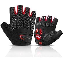 DHSO Cycling Gloves for Men Women,Half Finger Biking Gloves Motorcycle Gloves Gel Pad Shock-Absorbing Anti-Slip Breathable Mountain Bike Gloves