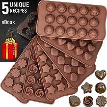 I Love Chocolate Treat Bag /& Ties Bundle of Smiley Chocolate Candy Mold