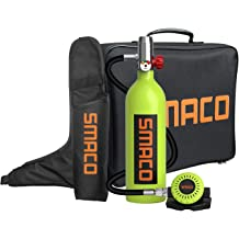 20.7LMini Portable Dive Oxygen Tank BYOCO SMACO S350 Constant Pressure Breathing Apparatus Oxygen Bottle Diving Equipment with 15-20 Minutes Capability,Pressure/&Corrosion Resistant Material