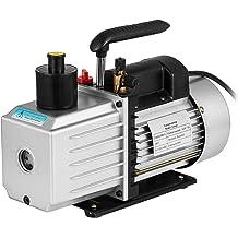VEVOR Vacuum Pump Kit HVAC Single Stage AC Vacuum Pump 4CFM 1//4HP Air Vacuum Pump with 1 Valve A//C Manifold Gauge Set Refrigerant Air Conditioning 4CFM1//4HP 1Valve
