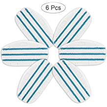 Mr.ZZ 6 Pack Replacement Steam Mop Pads Compatible PurSteam ThermaPro 10-in-1 Premium Microfiber Pads Compatible with PurSteam ThermaPro 10-in-1 Steam Mop Cleaner Replacement Steam Mop Pads Refills
