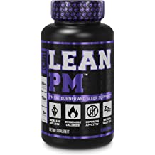 LEAN PM Night Time Fat Burner, Sleep Aid Supplement, & Appetite Suppressant for Men and Women - 60 Stimulant-Free Veggie Weight Loss Diet .