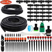 OUTERDO Drip Irrigation Kits Mist Cooling Irrigation System Automatic Irrigation Set for Garden Lawn 50ft//15m Plant Watering Kit with Distribution Tubing Hose Adjustable Nozzles Patio Greenhouse