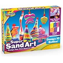 Hicarer 18 Pieces Sand Art Bottle Necklaces Animal Shape Sand Art Craft Kit for Novelty Art Activity Group Variety Summer Beach Games Party Favor 18 Styles,Sand Not Included